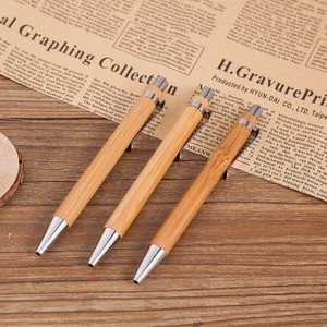 Hot-selling bamboo pens custom pen clips style and printing for gift