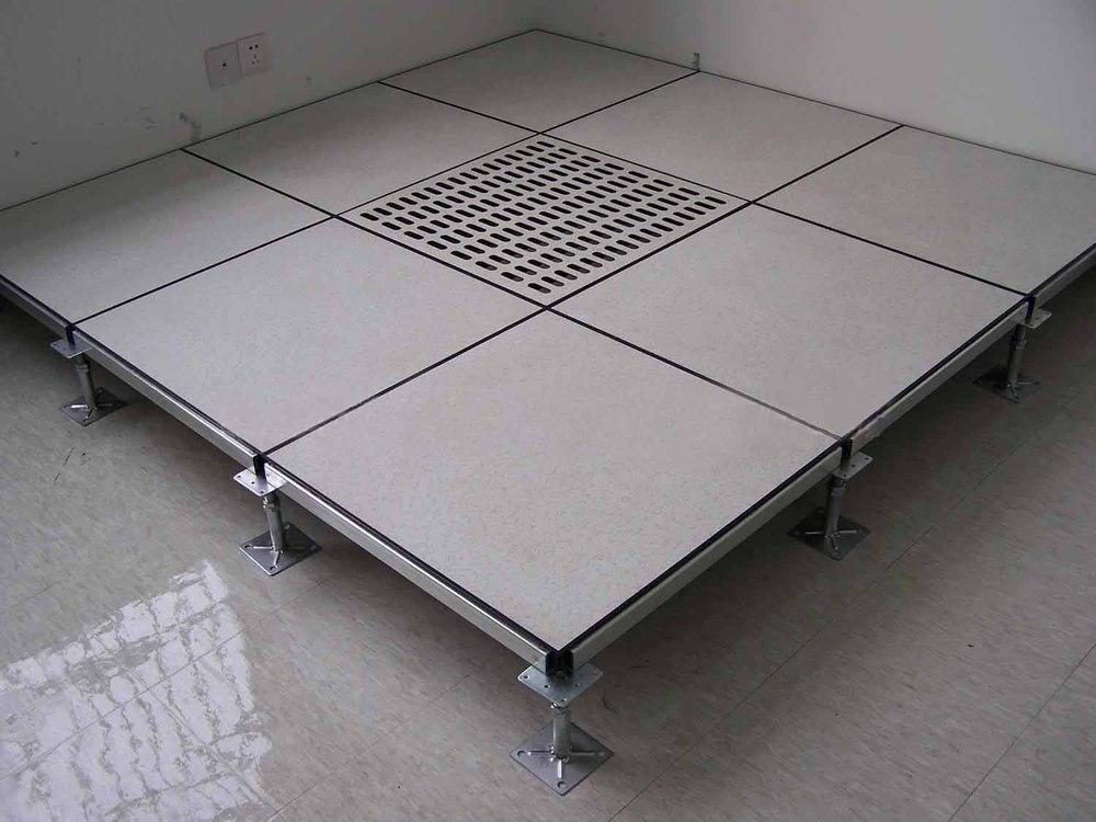Ceramic Tile Steel Infilled Cement Access Floor Panel