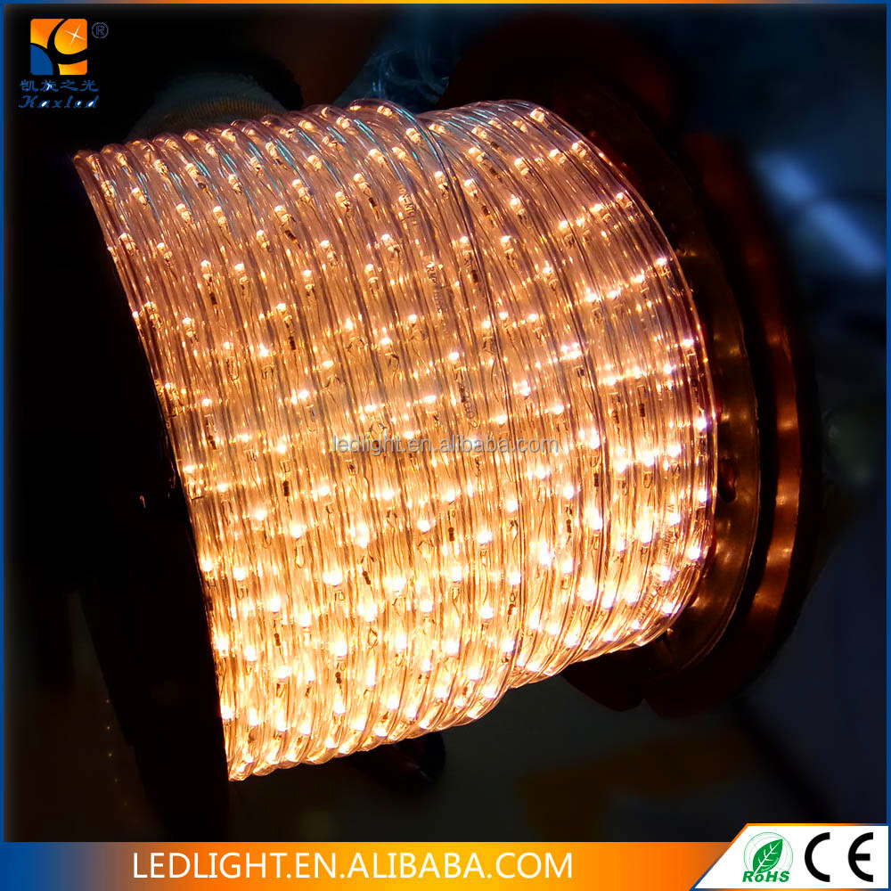 Outdoor decorative lighting 220V 100m decoration led rope light for Christmas decoration