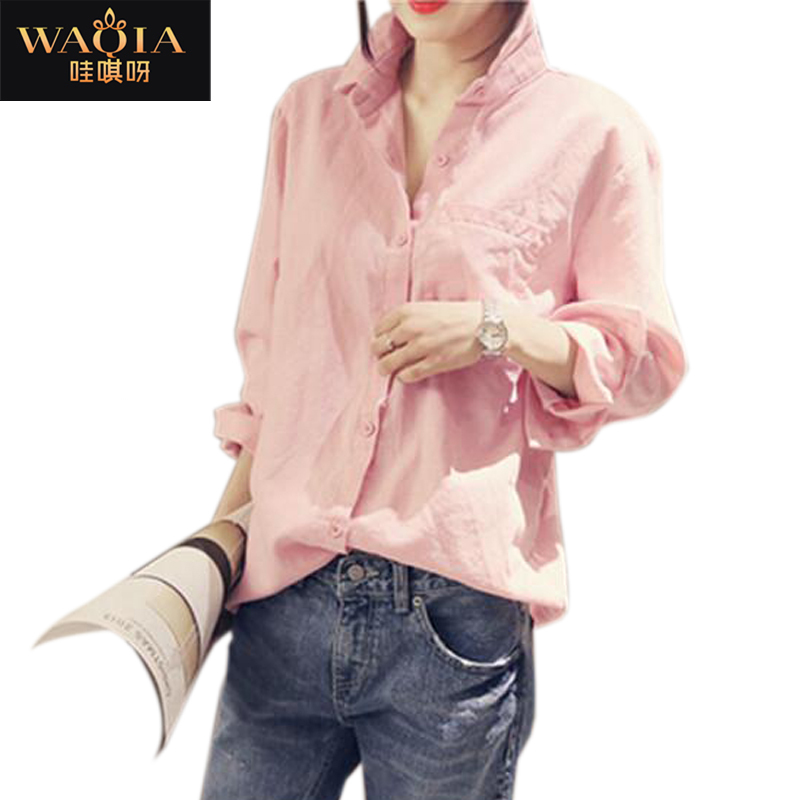 Buy Fashion Solid Loose Plus Size Women Long Sleeve POLO Collar Shirt  Casual Cotton And Linen Shirt Slim-Fit Women Blouse in Cheap Price on  Alibaba.com 05184b17f7