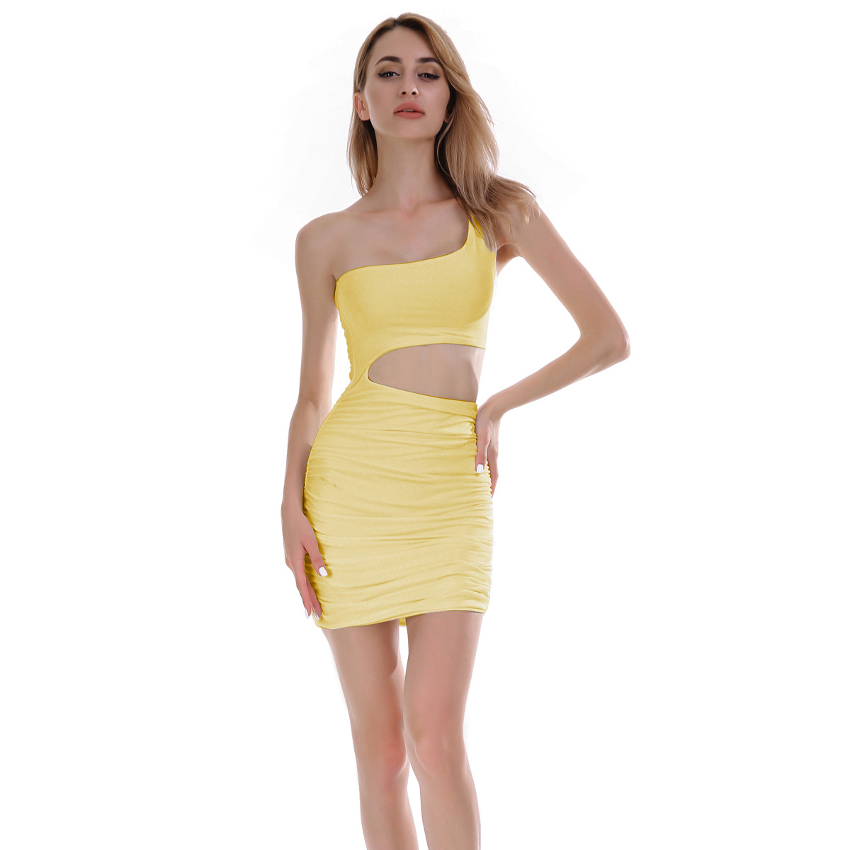 15594819d 2018 dress bodycon summer Amazon new European American one-shoulder dresses  women sexy night club