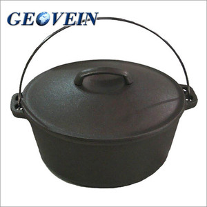 Seasoned 5Qt. Cast Iron Dutch Oven with Cast Iron Lid