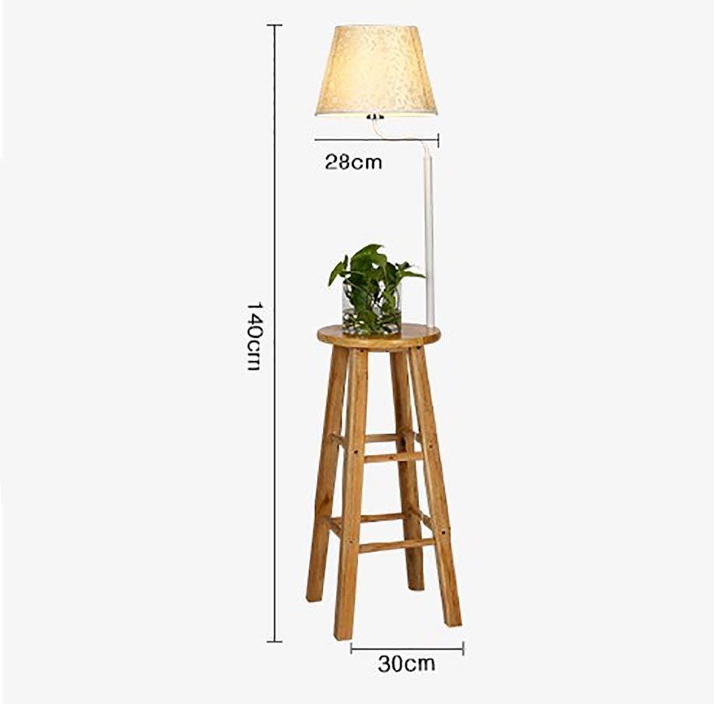 QYJZI Floor Lamps Floor lamp, living room solid wood floor lamp, high stool floor lamp, racks, flower rack lamp size: 30140cm