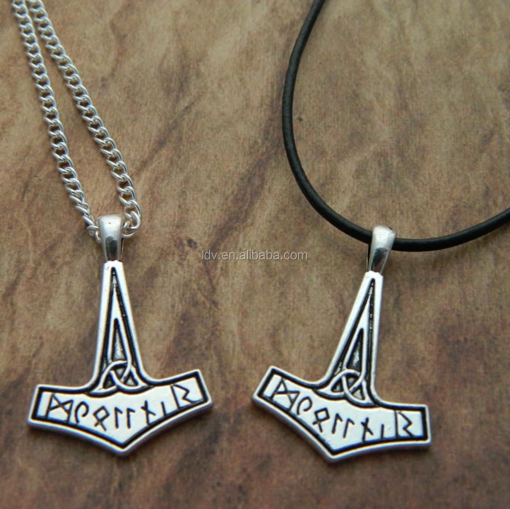 Thor S Hammer Necklace Norse Mythology Of Rune Men S Necklace Costume Viking Jewelry Buy Rune Set Men S Necklace Norse Greek Mythology