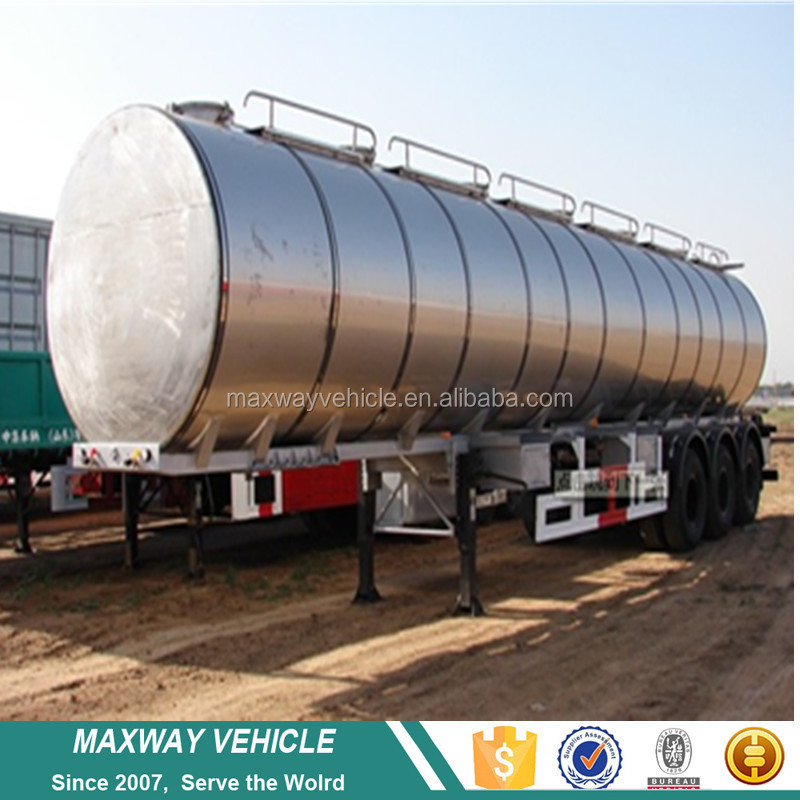 Widely used aluminum fuel tank semi trailer dimensions