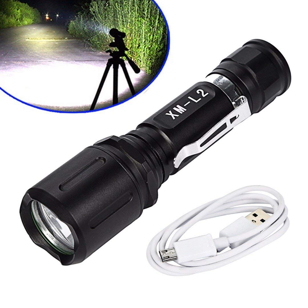 ERTIANANG Mayitr Super Bright 1000LM 10W XM-L2 4 Modes Flashlight Waterproof LED use 18650 Rechargeable Torch for Outdoor Activities
