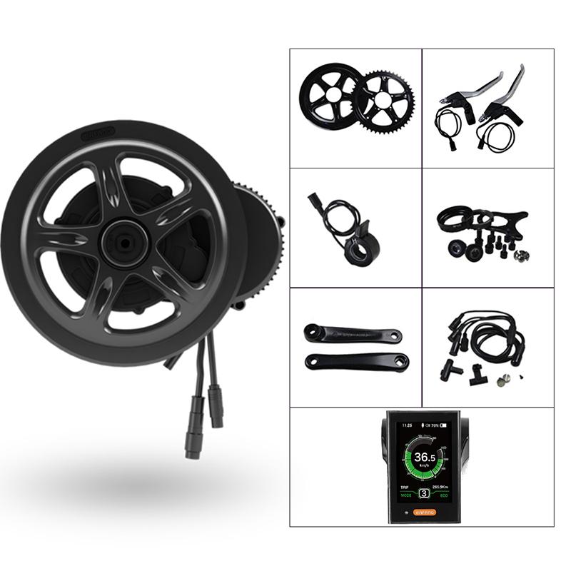 BAFANG BBS02 36V 500W eBike Mid Crank Drive kit Electric Bike Motor Conversion Kit with C961 C965 850C DPC18 750C Display