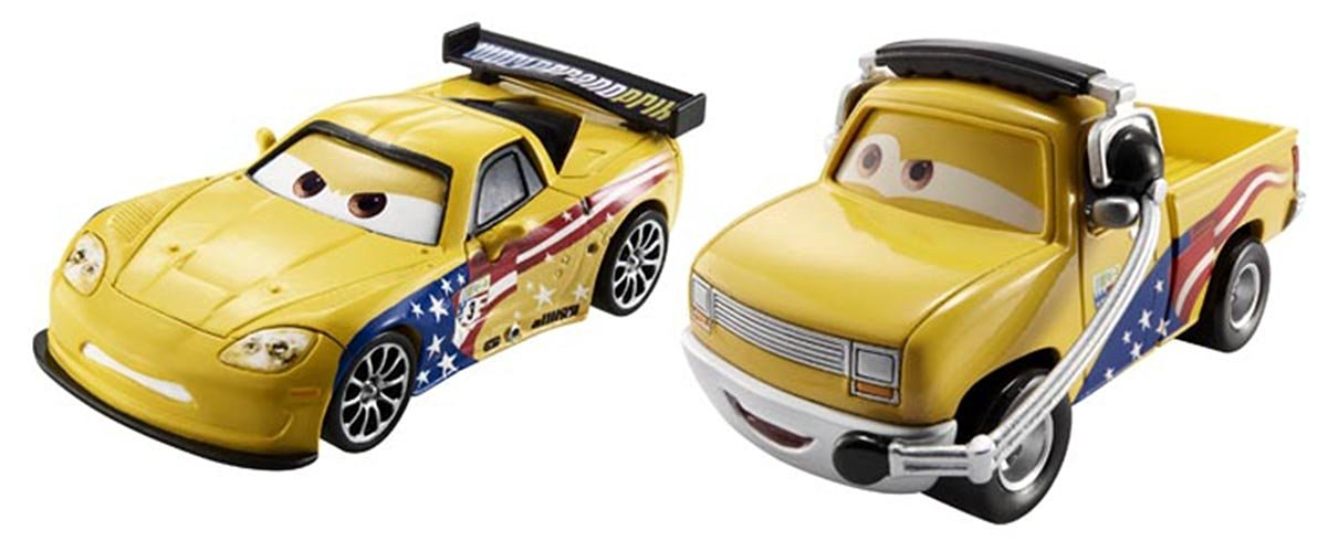 Disney/Pixar Cars Collector Die-Cast Jeff Gorvette and John Lassetire Vehicle, 2-Pack