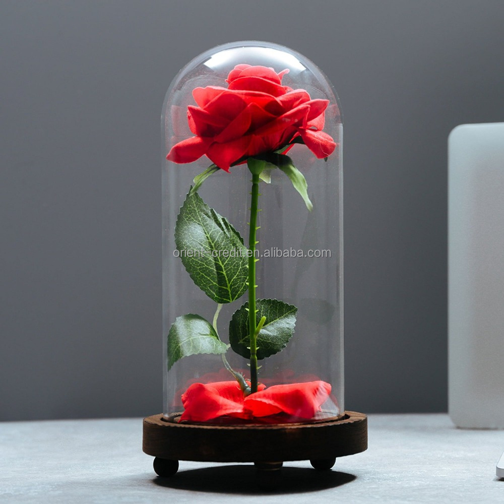 Rose in glass dome wholesale glass dome suppliers alibaba izmirmasajfo Choice Image