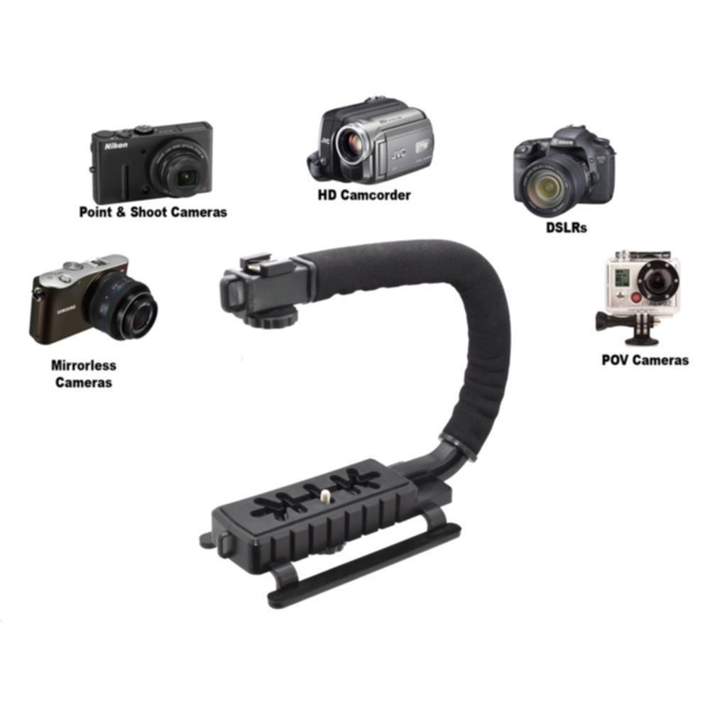 Pro Video Stabilizing Handle Grip for Ricoh PX Vertical Shoe Mount Stabilizer Handle