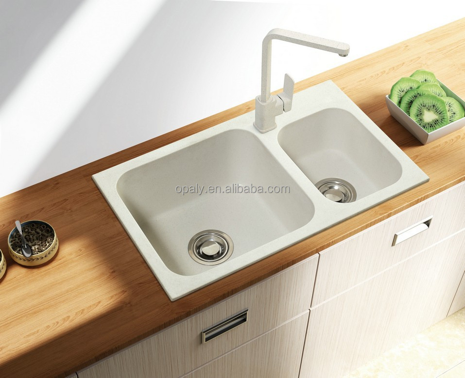 Composite Granite Quartz Kitchen Sink - Buy White Kitchen Sinks,Cheap  Kitchen Sinks,Composite Kitchen Sinks Product on Alibaba.com