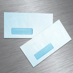 Designed for Quick Books Invoices and Business--Self Seal SINGLE Window Security fancy paper kraft a5 Envelopes -Statements