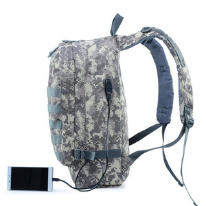 Multifunction USB charging camo military tactical hiking backpack