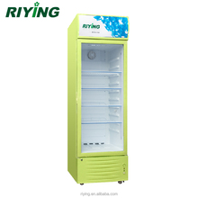 Stand Up Upright Coke Glass Door Display Cooler for Grocery Retail Store