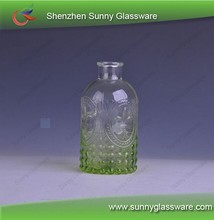 embossed pattern green spraying car branded perfume bottle