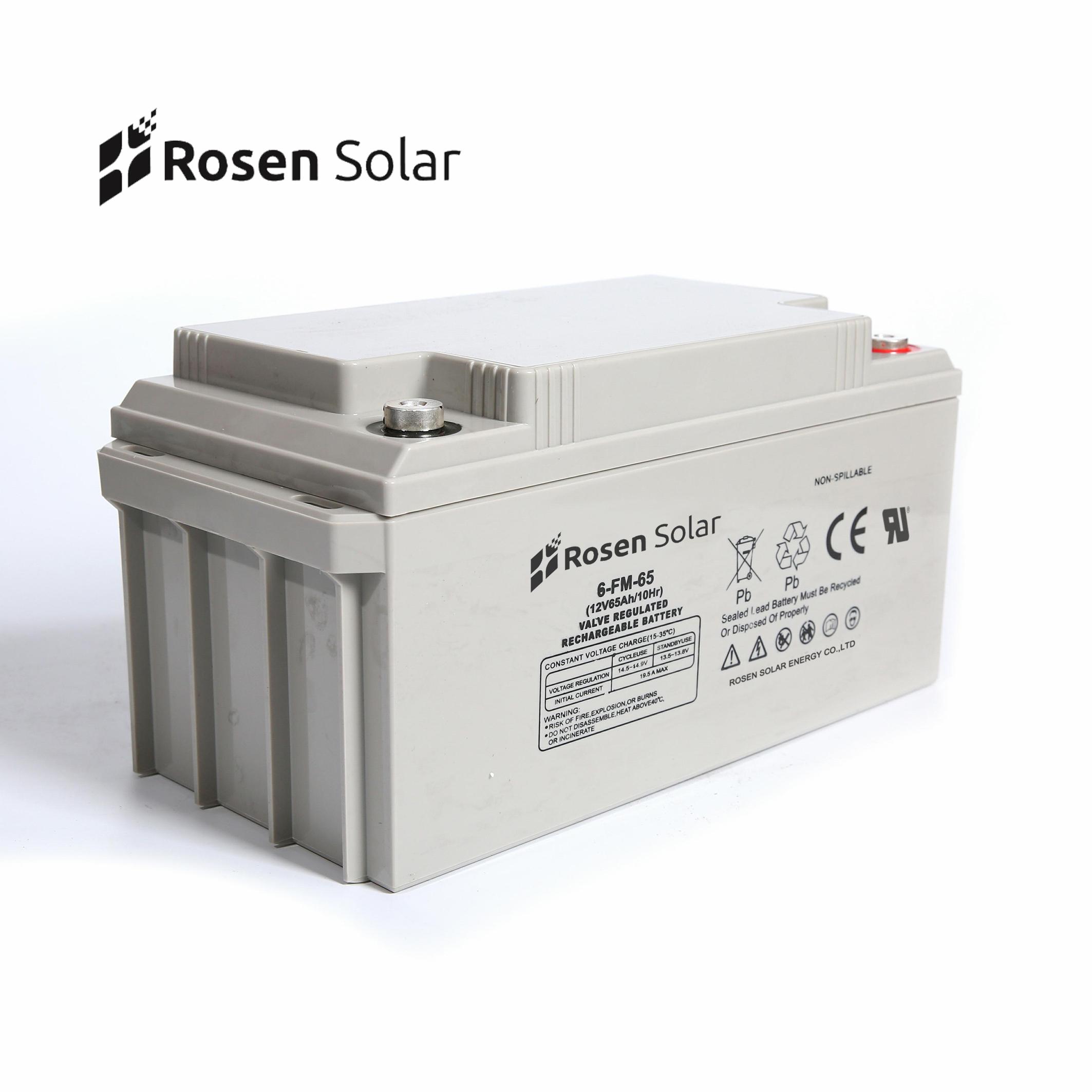 Rosen Deep Cycle 12V 65Ah Solar Energy Storage GEL Battery Price
