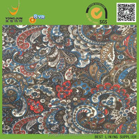 100% polyester 190T Vintage Style print fabric for russian market