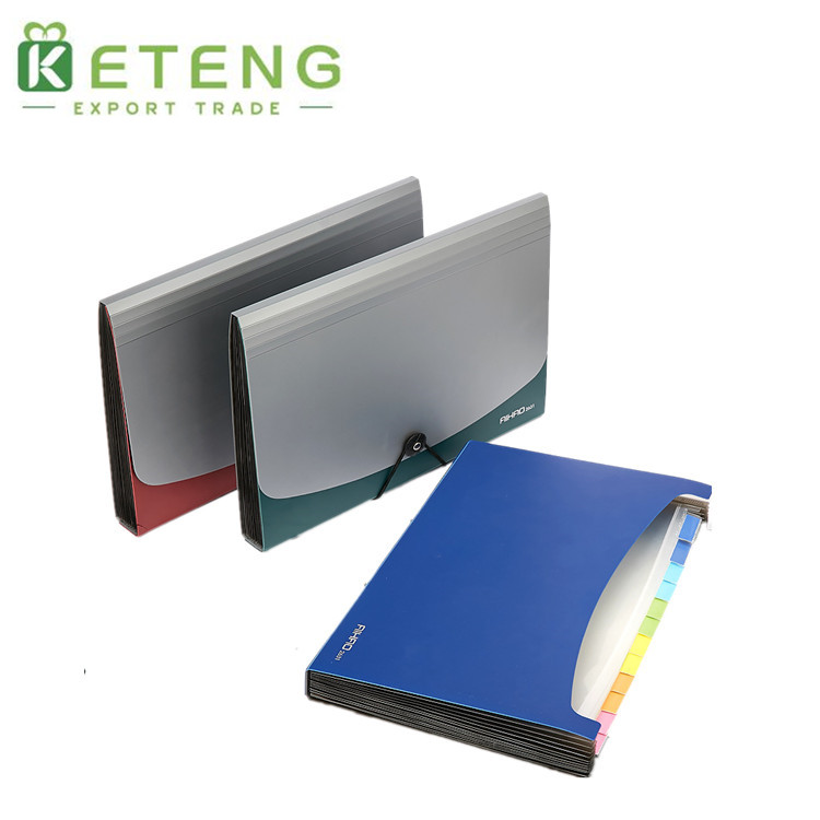 Japanese plastic office stationery expanding file folder made in China
