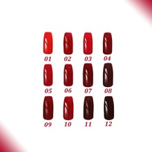 Free shipping Red Wine series 12 pcs FeiFan UV beautiful Gel Nail Polish 15ml 12 colors