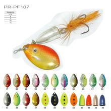 Colorful metal carp fishing bait PR-PF107 spinner fishing lure