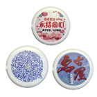 3D color printing Badge MP3 player, Music digital Player circle music with earphone Q36 Concert badge player
