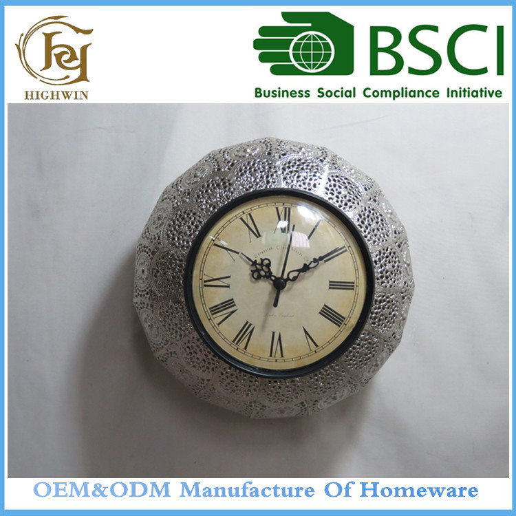 Customized OEM Design Quartz Metal Decorative Wall Clock