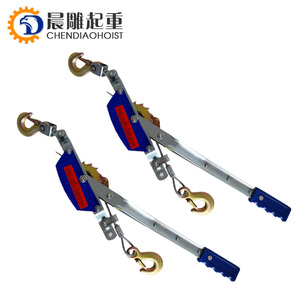 2t 3 Hook Come A Long Winch Durable Hoist Hand Cable Puller Ratchet Come-Along Cable Puller,2 ton come alongs