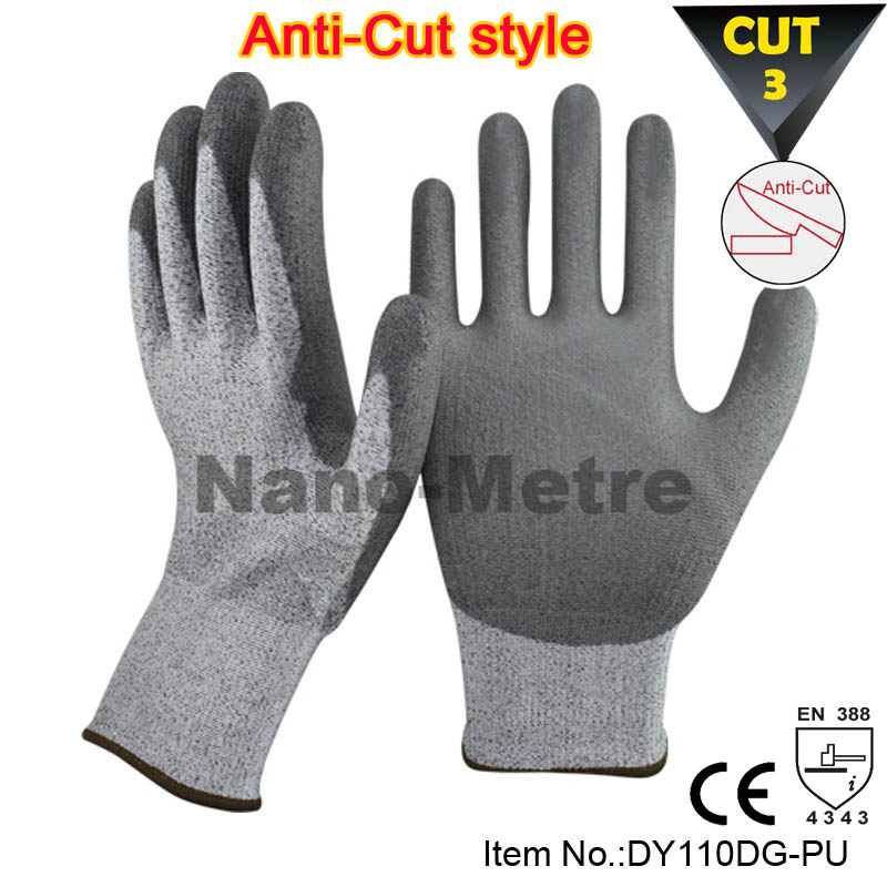 NMSAFETY new Arrival Cut resistant level 3 work cutproof <strong>gloves</strong>