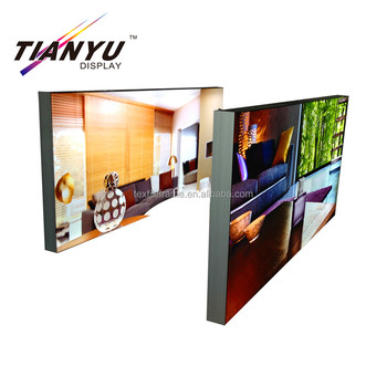 custom indoor advertising aluminum frameless poster tension fabric LED backlit sign light box