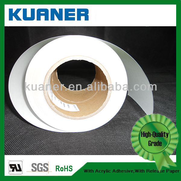 ROHS ,UL self adhesive film for printing of white Pet