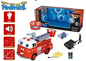 Toyland® 6ch Rc Remote Control Hook and Ladder Fire Engine Truck w/lights & Siren And Blowing Bubbles (Bubbles Not Included)
