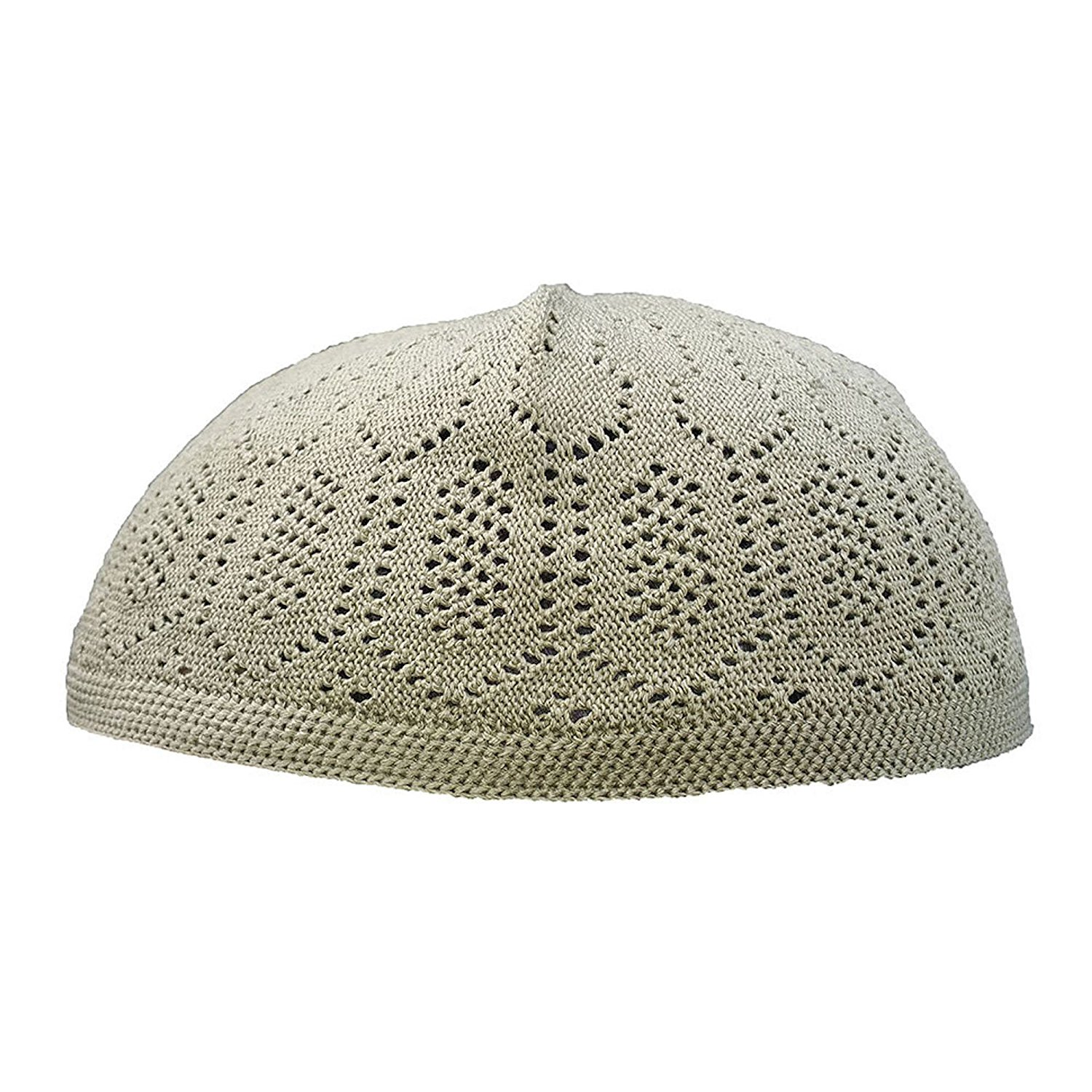 2fdb6c379d4 Get Quotations · Plain Olive Cotton Open-Knit Turkish Muslim Islamic Kufi  Hat Taqiya Takke Kofia Skull Cap