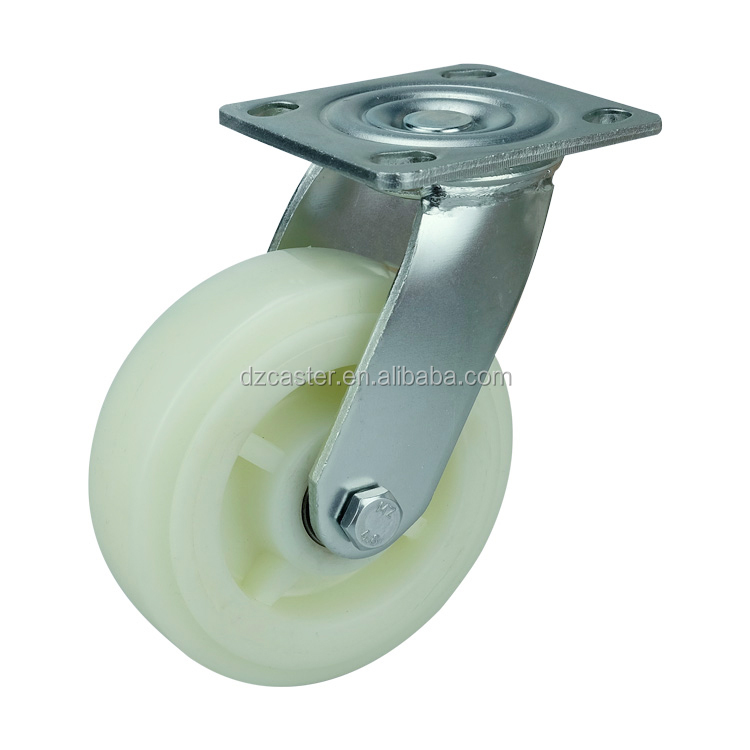 D&Z Industrial white locking pp swivel instrumental caster wheel