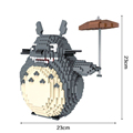 1820 PCS TOTORO Figure Toy 23 23 cm Model Diamond Building Blocks Toy