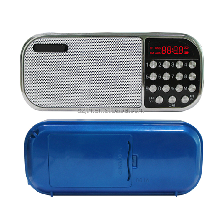 Factory supplier customized Promotional mini portable radio am fm digital radio speaker from China