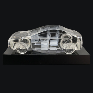 3D car shaped figurine crystal for car show home desk decoration crafts gift