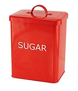 Get Quotations · Red Kitchen Canister   Sugar