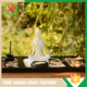 Ceramic Yoga Figurine Of Zen Garden With Wooden Rake And Stone