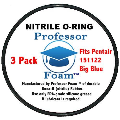 (3 Pack) Pentek, Pentair Water 151122 Thick Size Big Blue O-Ring Buna-N ORing by Professor Foam (Standard OEM Size)
