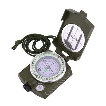 Metal Waterproof Pocket Compass Navigator with Foldable Metal Lid for Hiking Camping Military Army Compass DC60