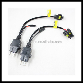 Hid xenon bulb h4 hl wiring harness controller h4 flexible small hid xenon bulb h4 hl wiring harness controller h4 flexible small relay cable wires sciox Images