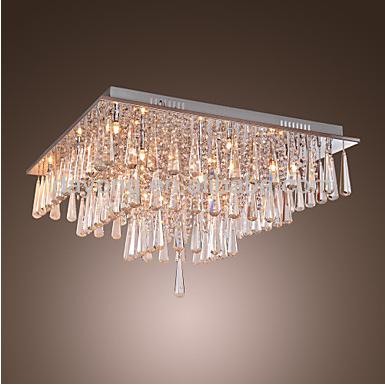Flush Mount With 16 Lights In Crystal Square Design Model 3001-16 ...