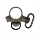 Large 1.25 inch Push Button Swivel 2 Position Quick Detach Receiver Dual Loop End Plate QD Sling Mount Adapter