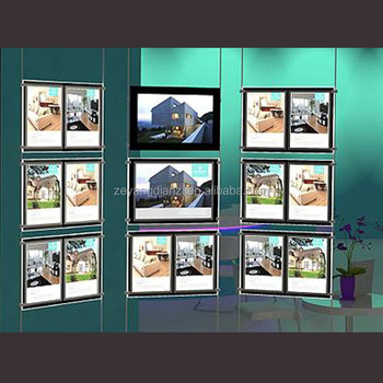 A3 A4 Double Sides Property Light Pocket Window Led Display - Buy ...