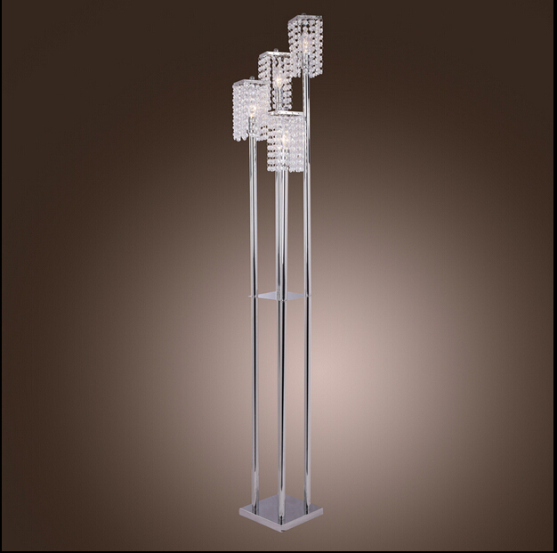 Modern Crystal Floor Lamp Stainless Steel Led Lamps Cool
