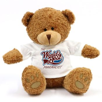 promotional gifts new custom logo white t-shirt brown soft plush stuffed china cute chubby bear
