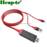 8pin To HDMI cable 2M AV TV HDTV Adapter Cable For iPad/iPhone 5S 6 6P 7 8 X With USB Charger Cable