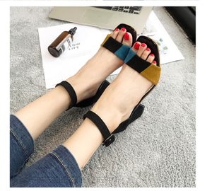 Sandals female summer high heels buckle female shoes
