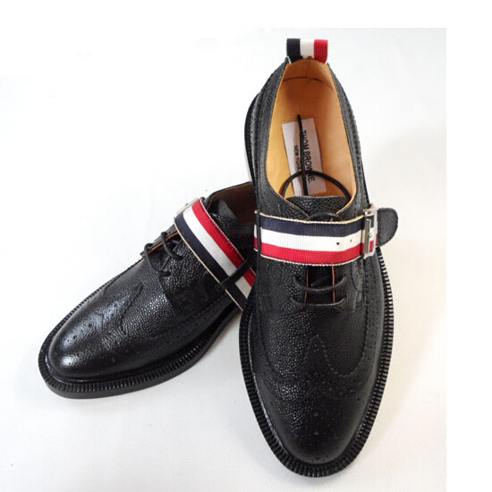 f2ce2588791 top fashion genuine leather man flats shoes 2015 round toe lace up THOM  BROWNE man oxfords shoes man casual brand leather shoes
