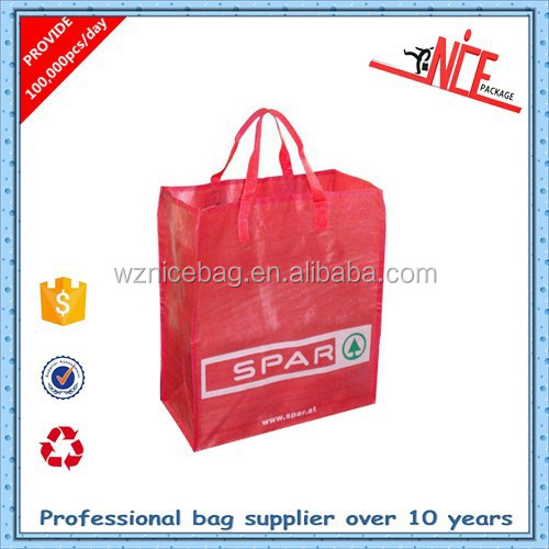 reusable low price gloss laminated pp woven shopping bags